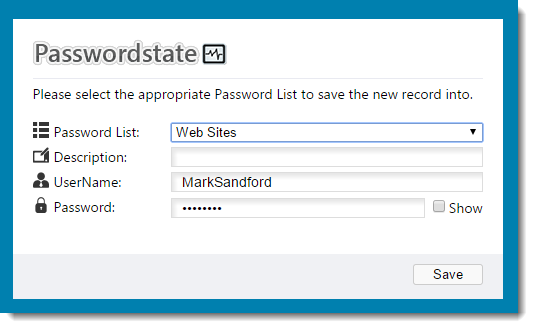 Passwordstate Browser Extension